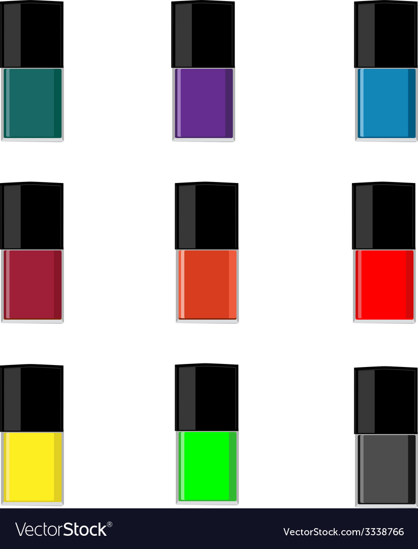 Nail polish bottle vector | Price: 1 Credit (USD $1)