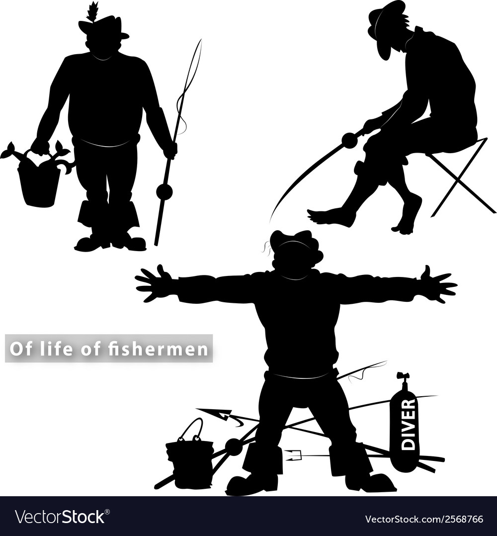 Of life of fishermen vector | Price: 1 Credit (USD $1)