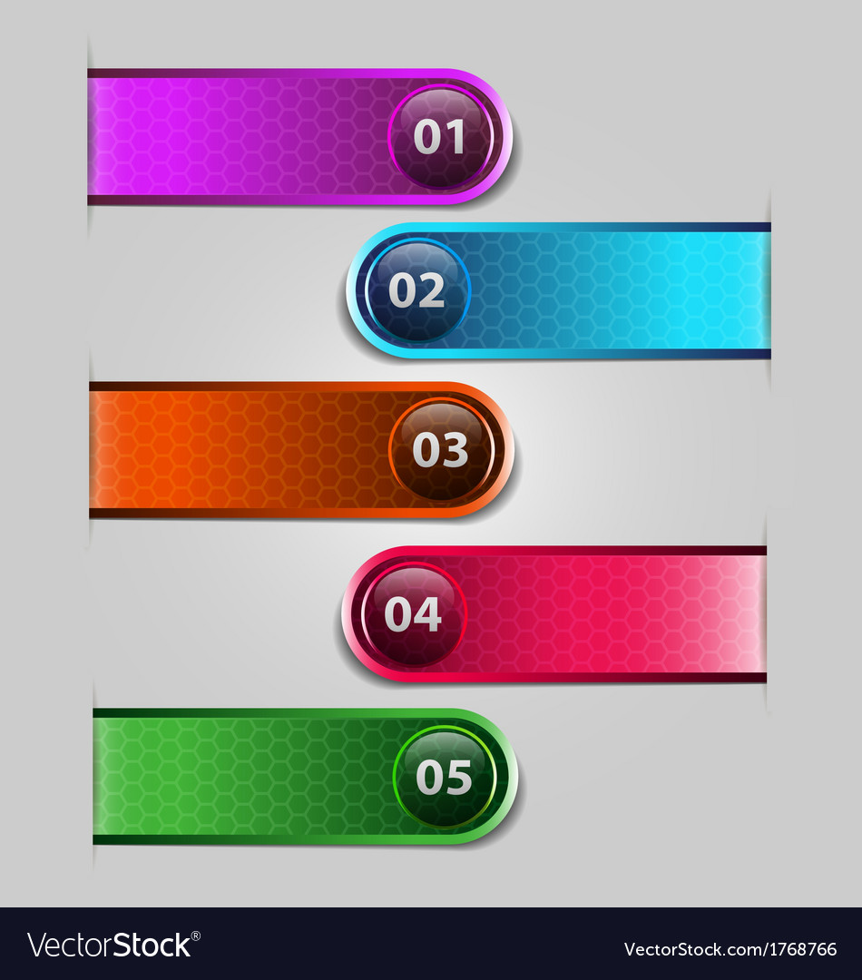 One to five label options vector | Price: 1 Credit (USD $1)
