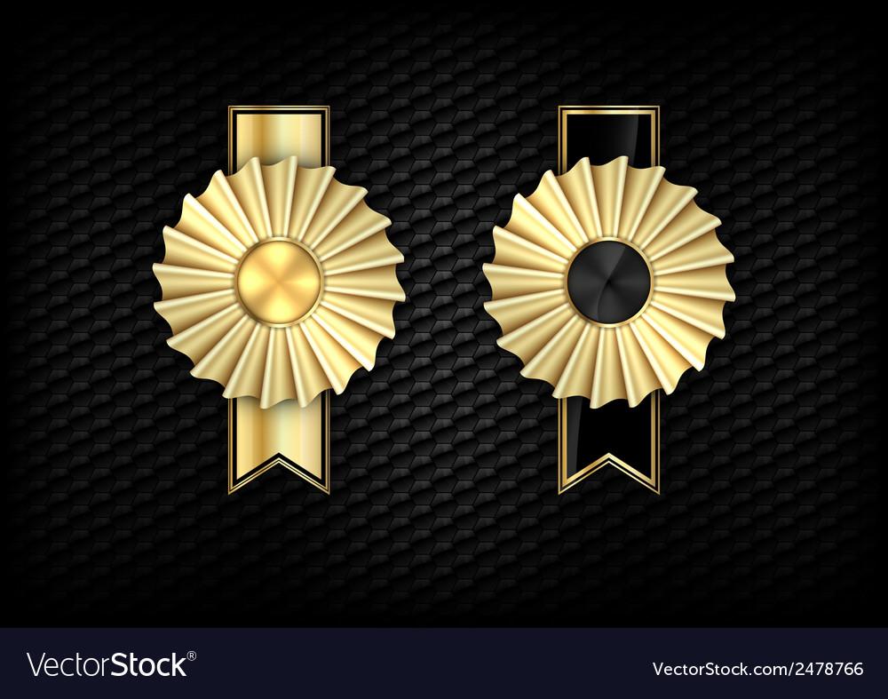 Rosette gold vector | Price: 1 Credit (USD $1)