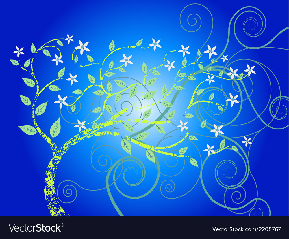 Blue forest tree eps vector | Price: 1 Credit (USD $1)