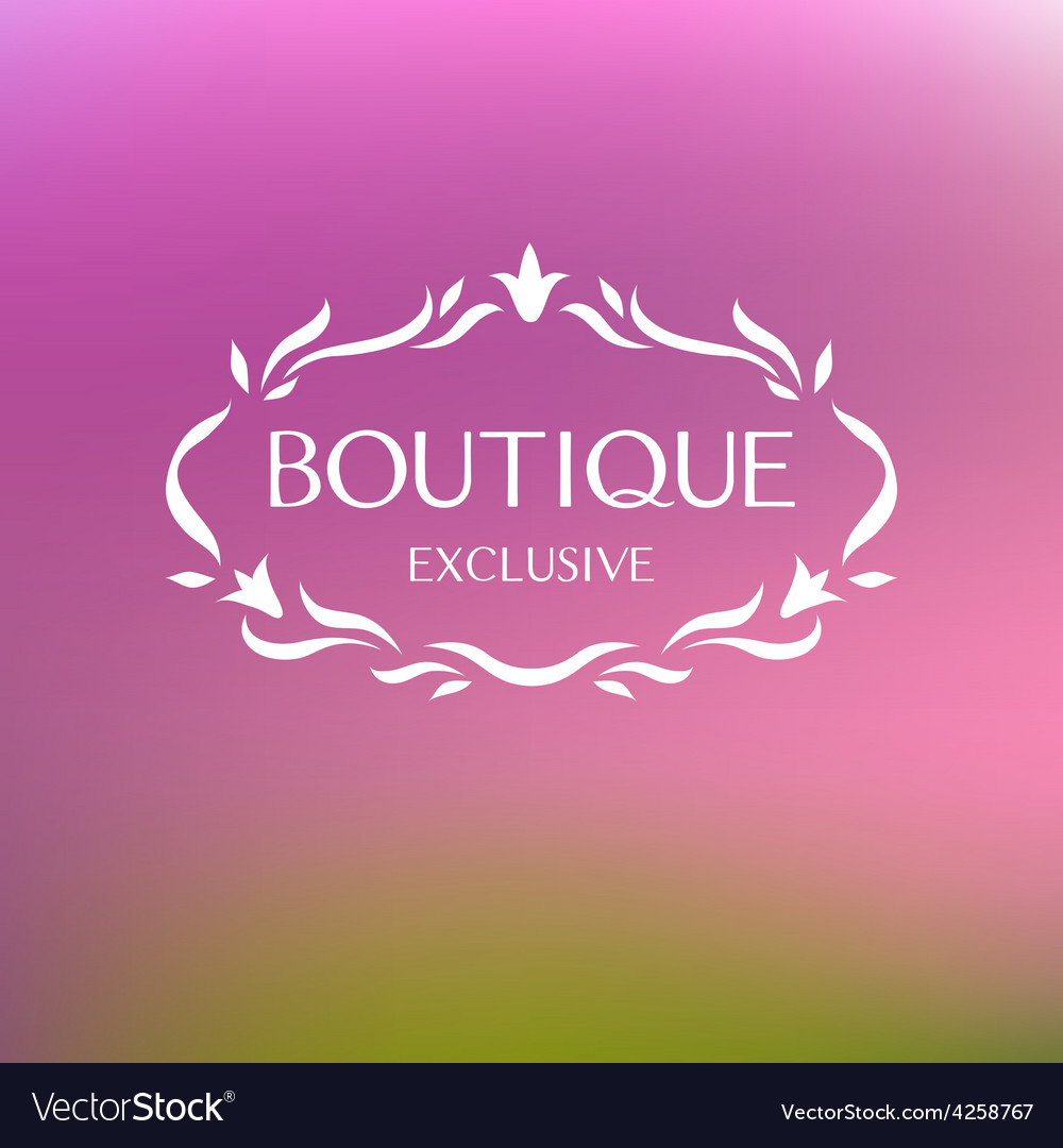 Boutique logo vector   Price: 1 Credit (USD $1)