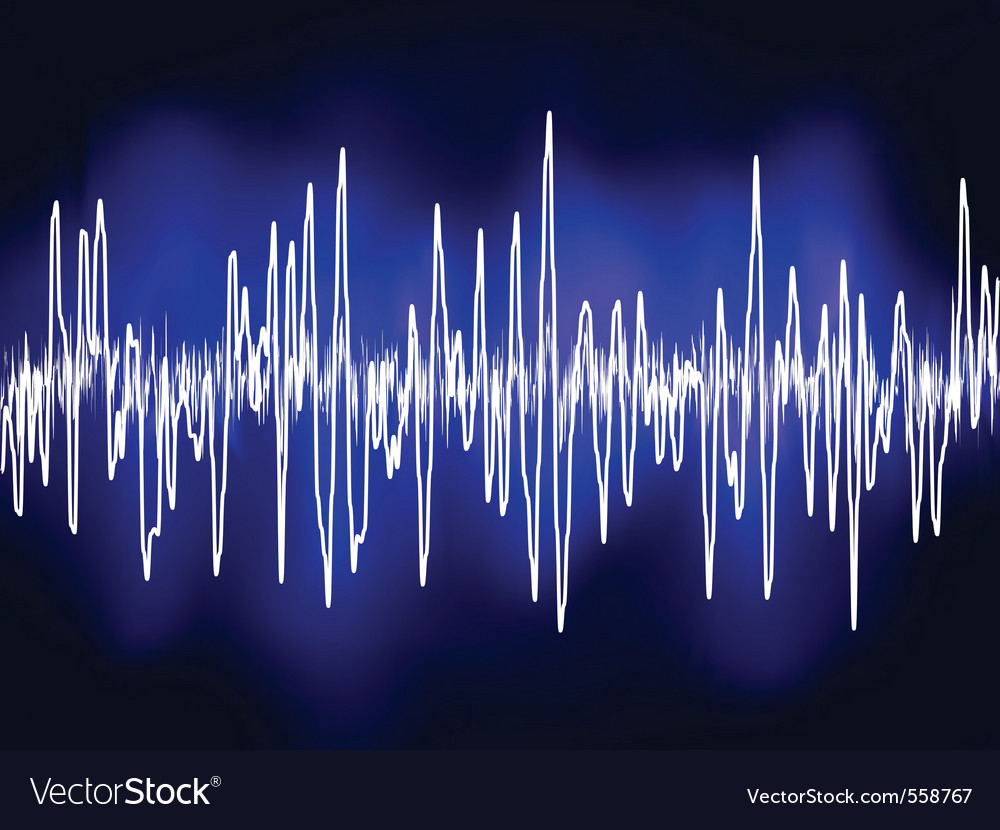 Electronic sound waves vector | Price: 1 Credit (USD $1)
