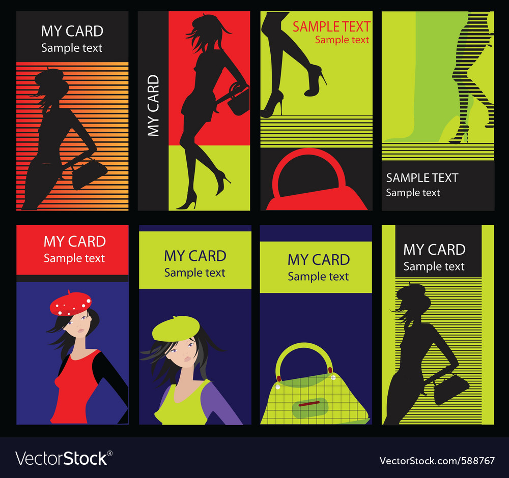 Fashion cards vector | Price: 3 Credit (USD $3)