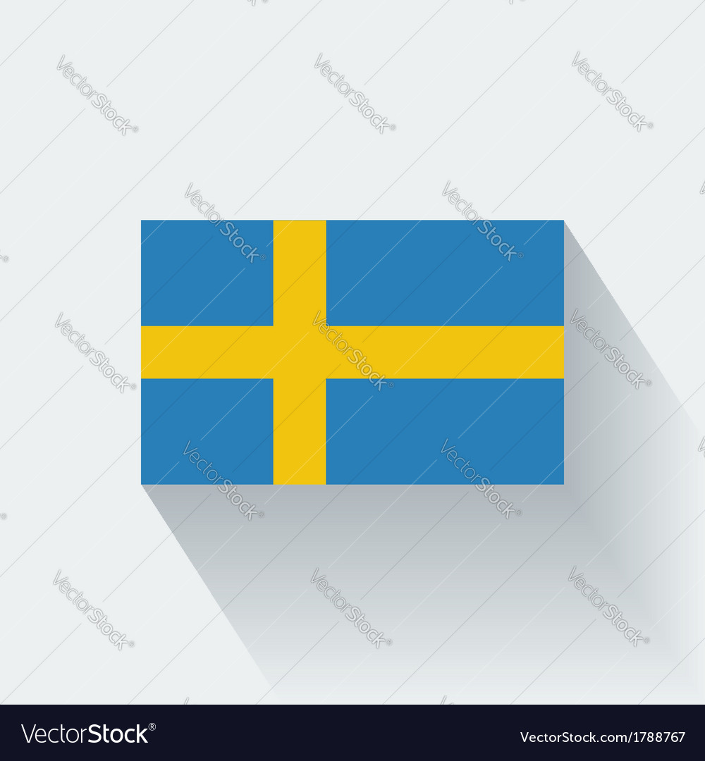 Flat flag of sweden vector | Price: 1 Credit (USD $1)