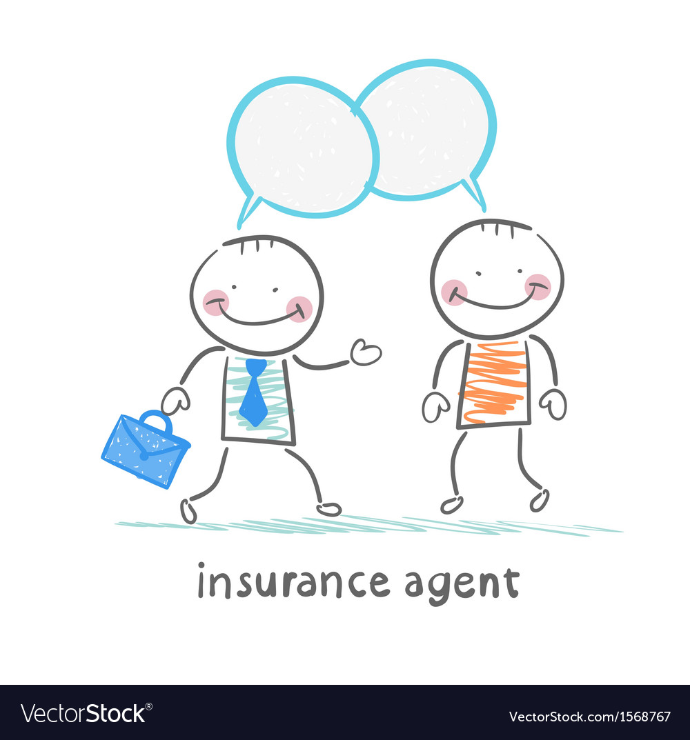 Insurance agent insurance agent tells about vector | Price: 1 Credit (USD $1)