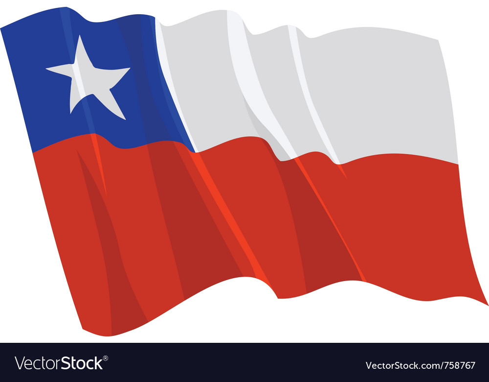 Political waving flag of chile vector | Price: 1 Credit (USD $1)