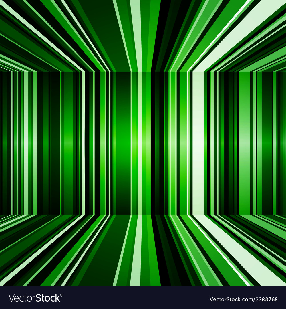 Abstract warped green stripes colorful background vector | Price: 1 Credit (USD $1)