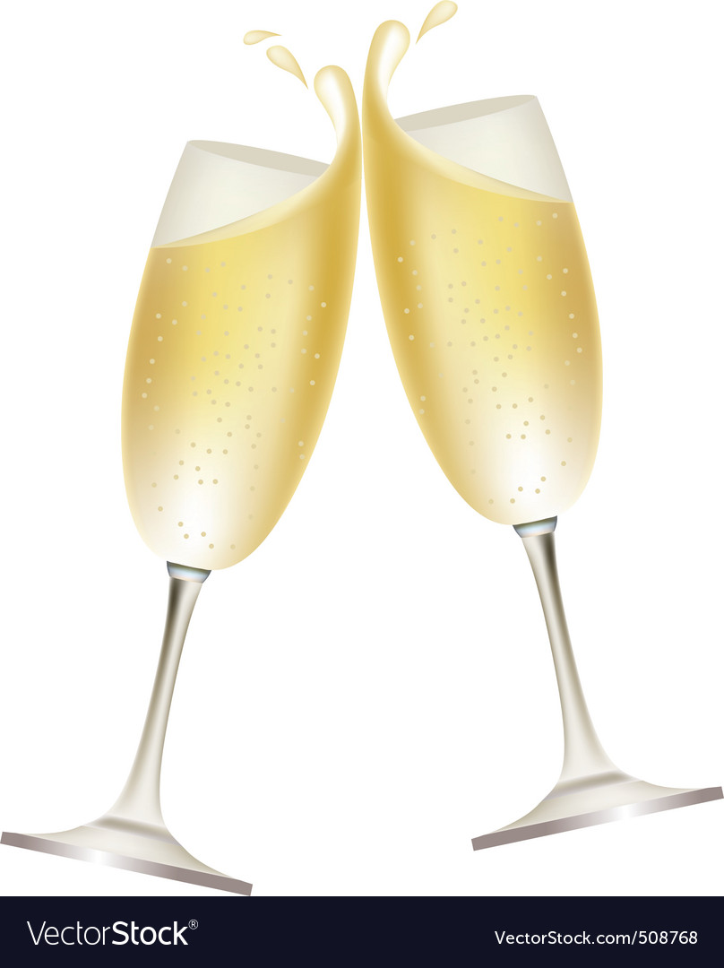 Champagne splash vector | Price: 1 Credit (USD $1)