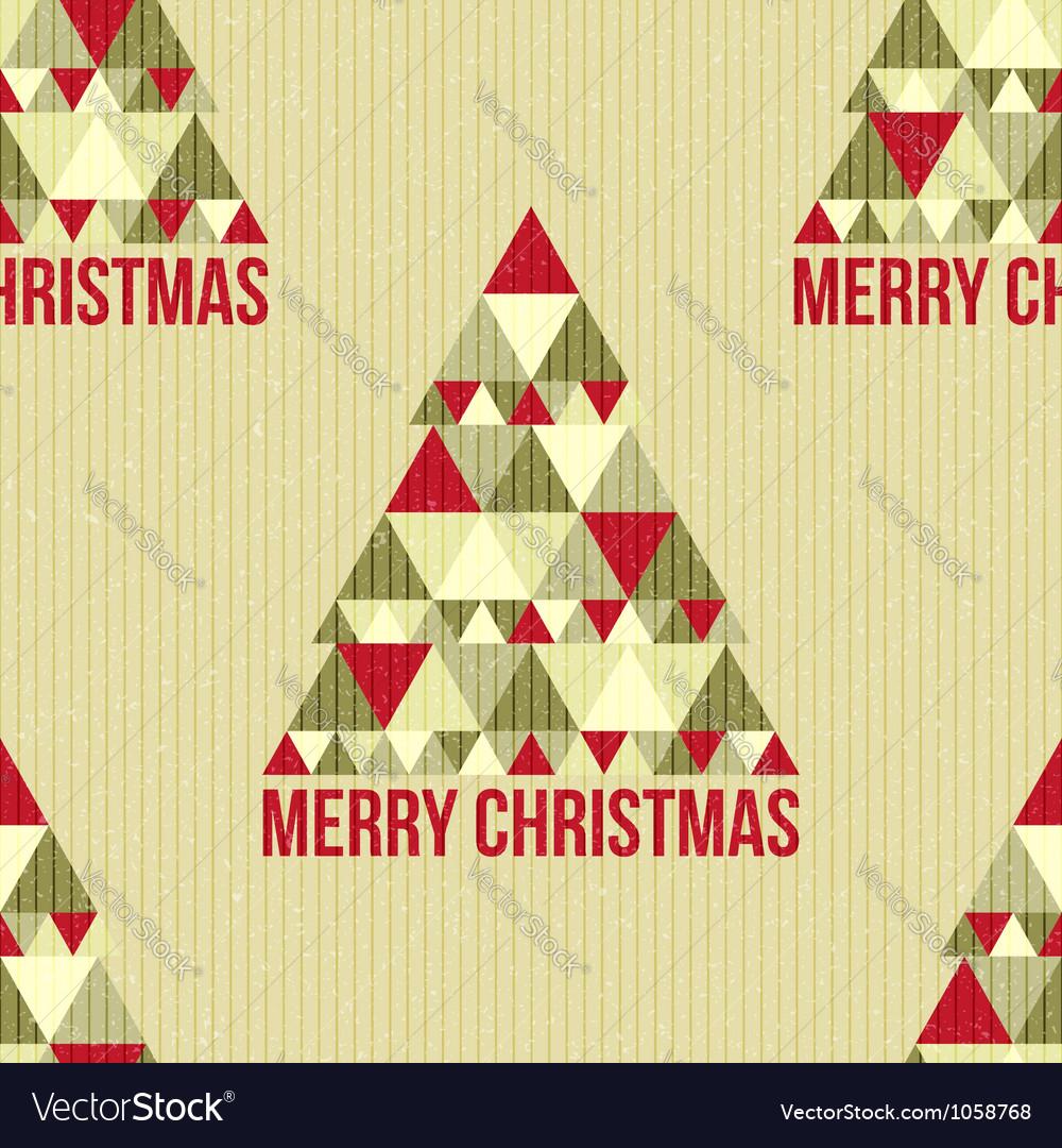 Christmas seamless vintage pattern vector