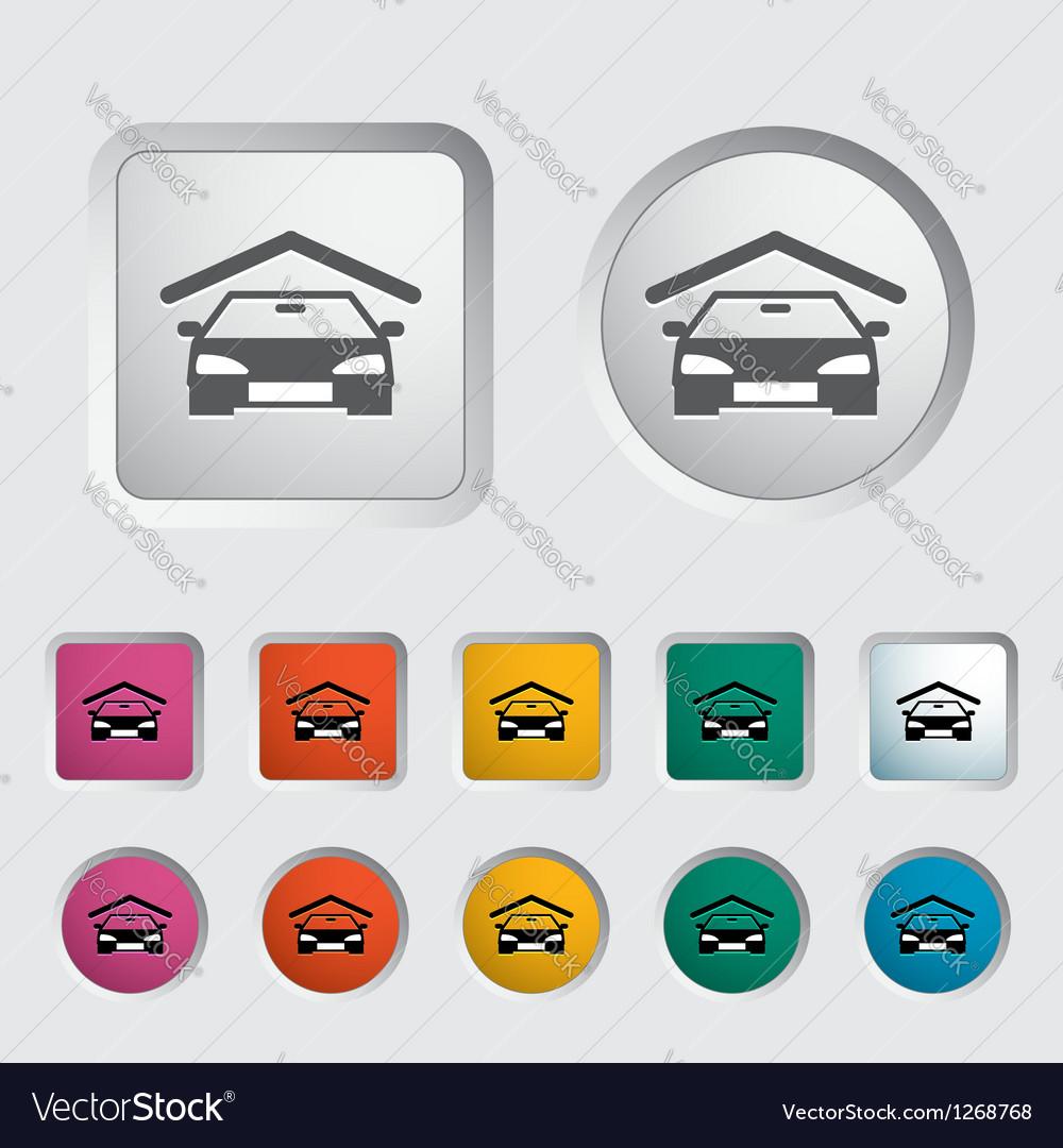 Garage icon vector | Price: 1 Credit (USD $1)