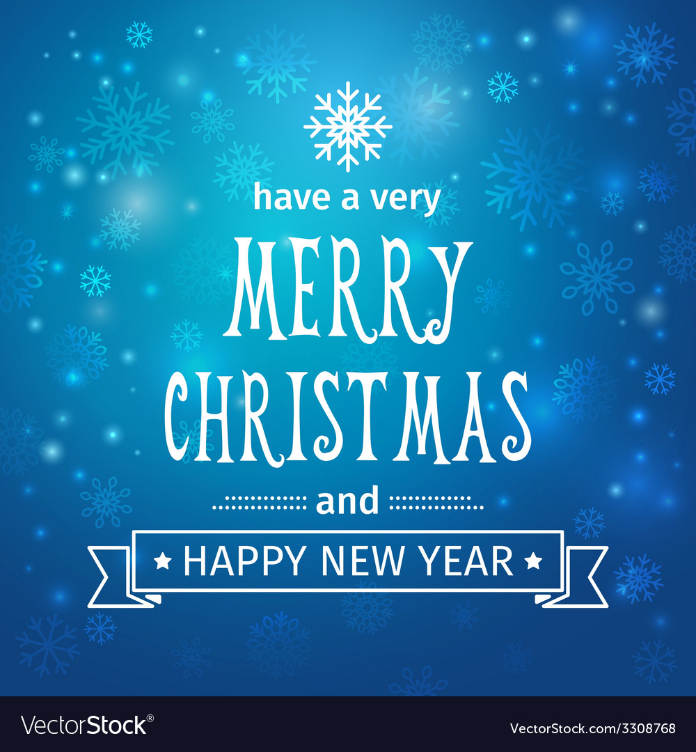 Greeting card merry christmas and happy new year vector | Price: 1 Credit (USD $1)