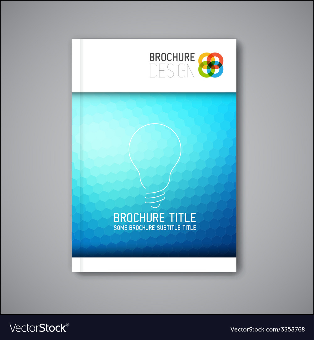 Modern abstract brochure design template vector   Price: 1 Credit (USD $1)
