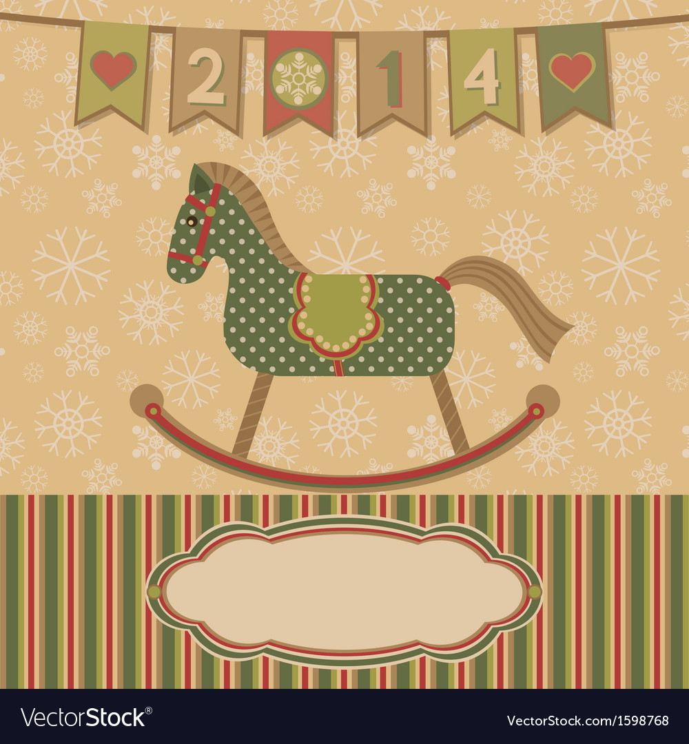 New year 2014 with the horse vector | Price: 1 Credit (USD $1)