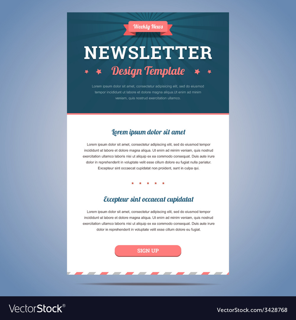 Newsletter design template vector | Price: 1 Credit (USD $1)
