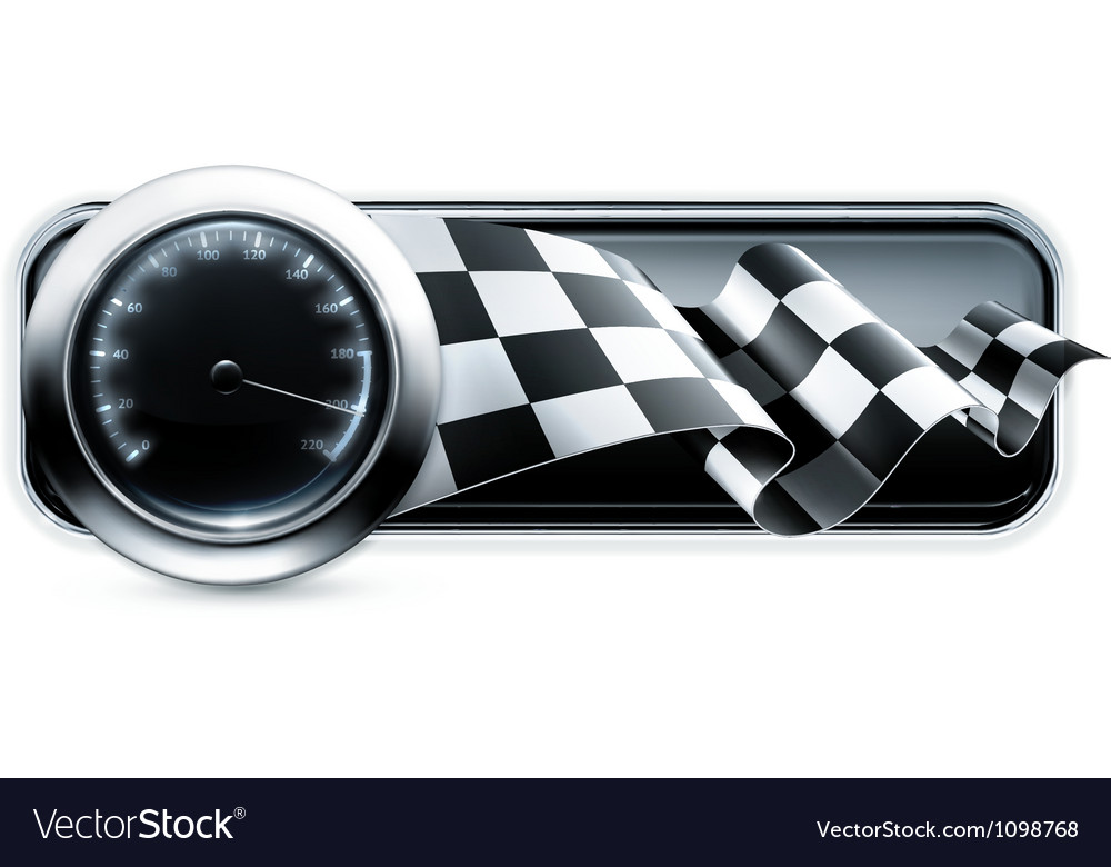 Racing banner vector | Price: 1 Credit (USD $1)