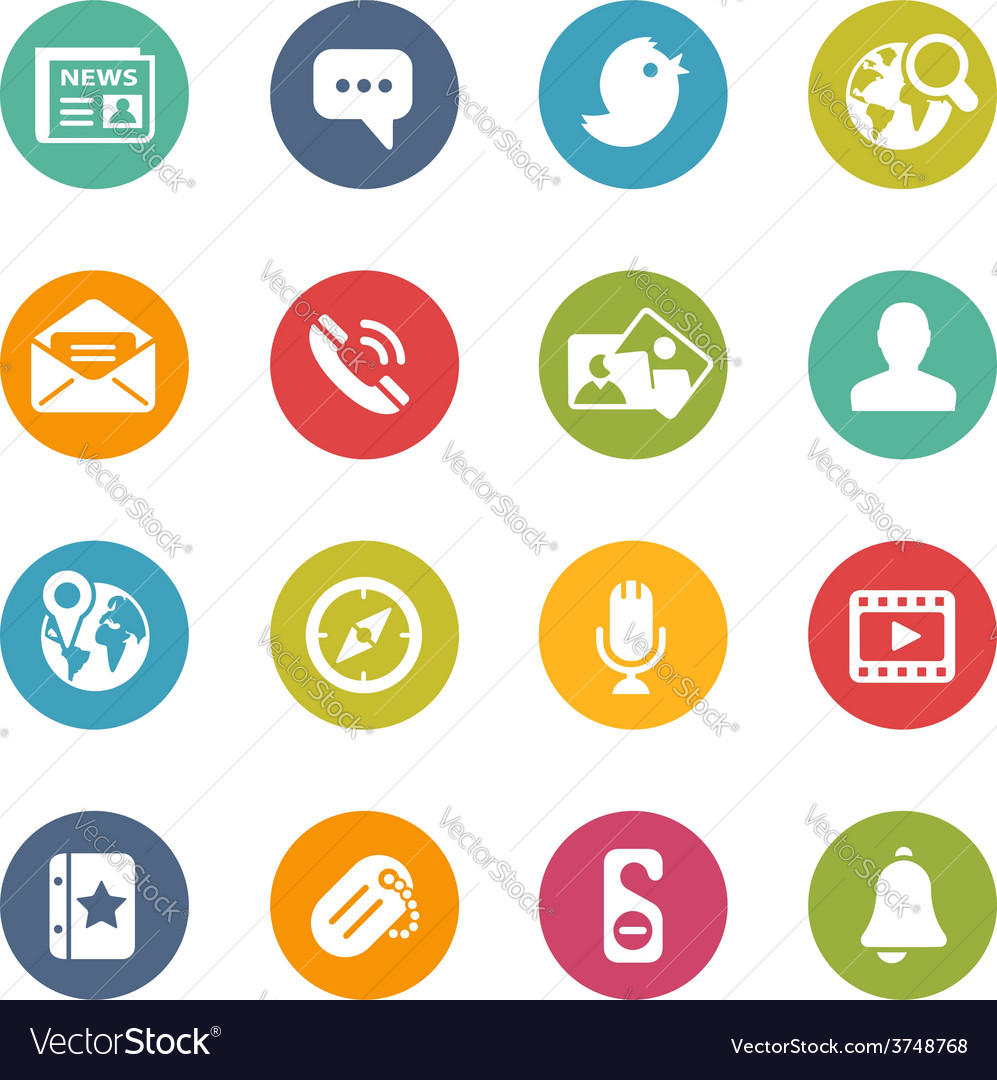 Social-media-icons fresh-colors-series vector | Price: 1 Credit (USD $1)