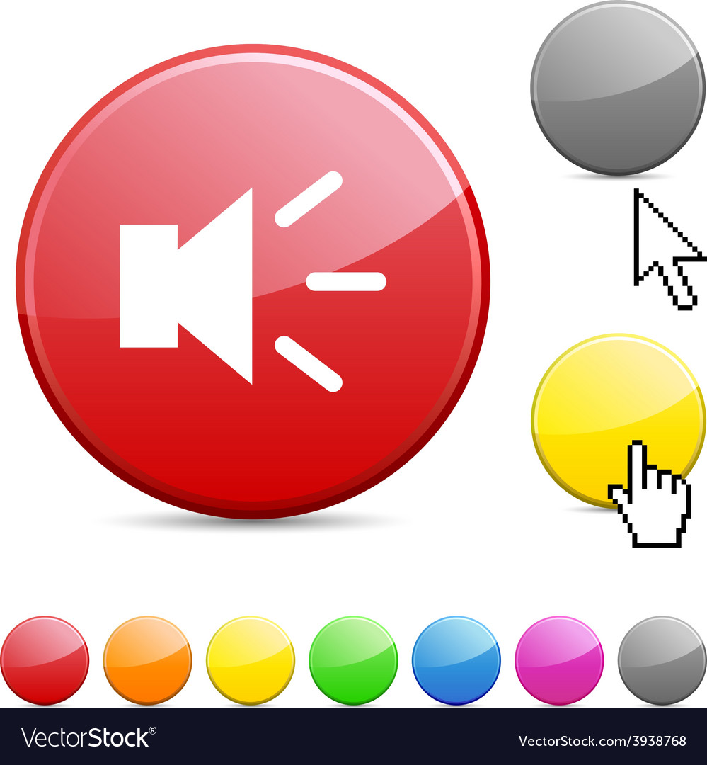 Sound glossy button vector   Price: 1 Credit (USD $1)