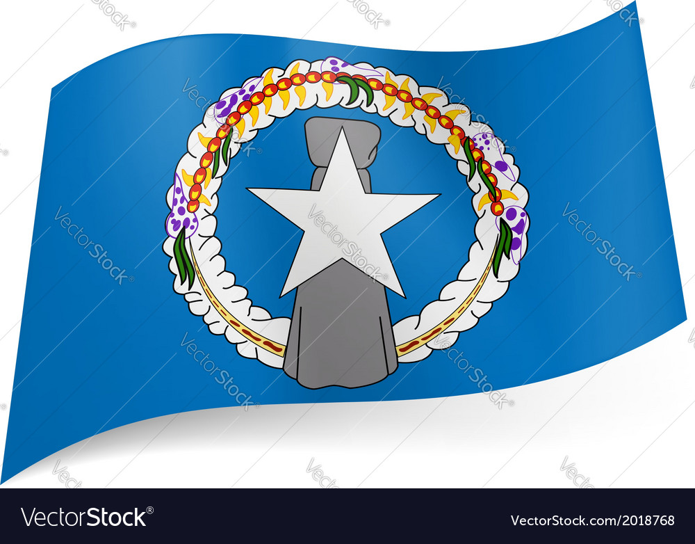 State flag of northern mariana islands vector | Price: 1 Credit (USD $1)