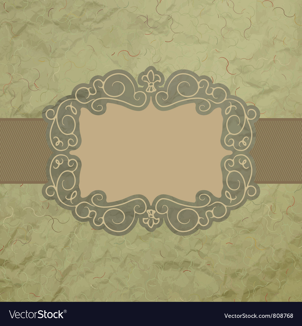 Vintage worn card vector | Price: 1 Credit (USD $1)