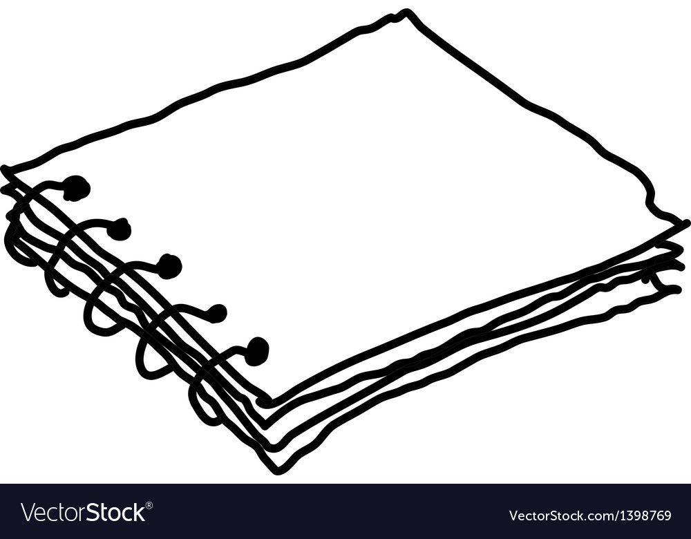 A sketchbook is placed vector | Price: 1 Credit (USD $1)