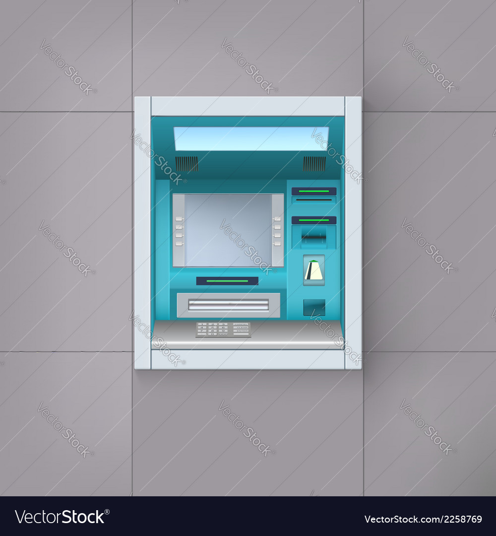 Atm machine vector | Price: 1 Credit (USD $1)