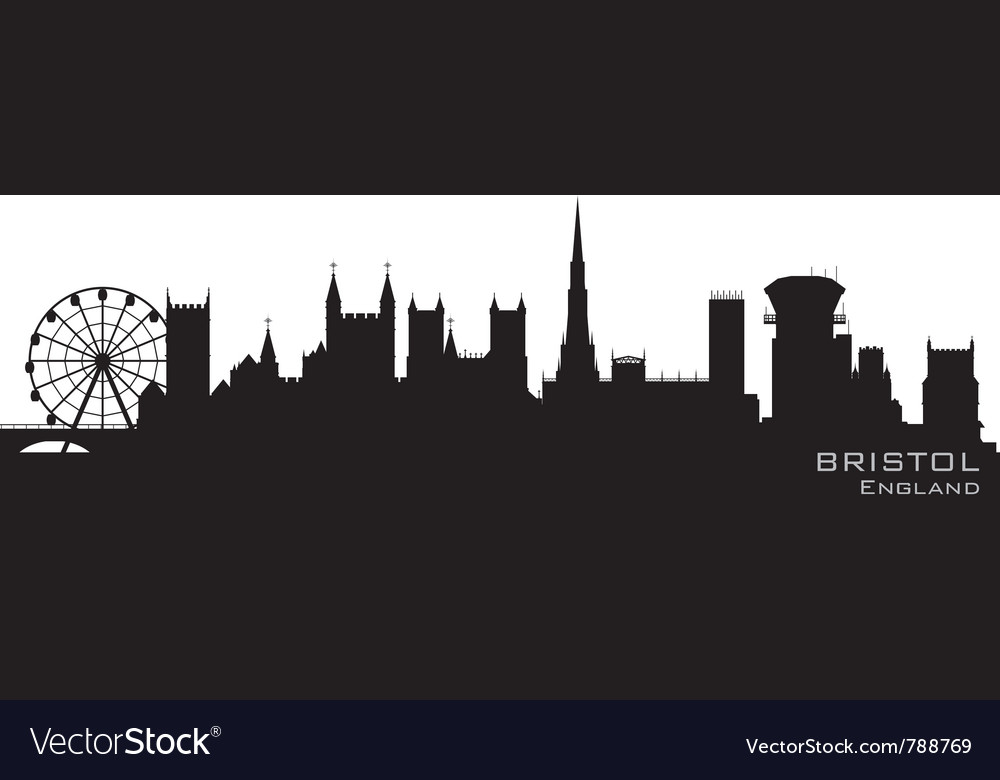 Bristol england skyline detailed silhouette vector | Price: 1 Credit (USD $1)
