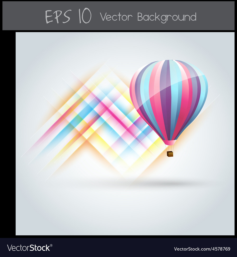 Colorful parachute vector | Price: 1 Credit (USD $1)