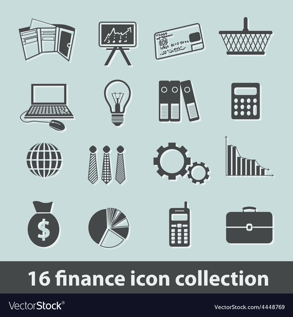 Finance icons vector | Price: 1 Credit (USD $1)