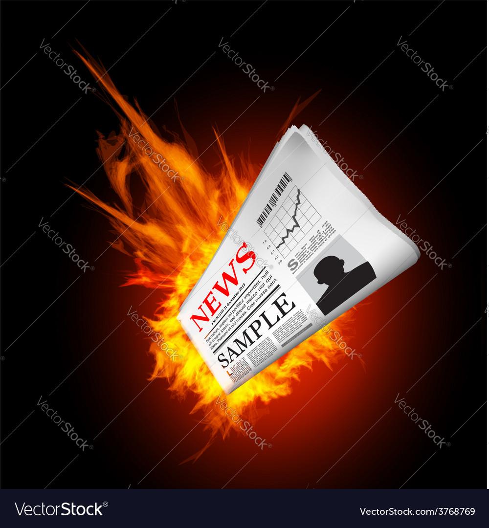 Hot news vector | Price: 1 Credit (USD $1)