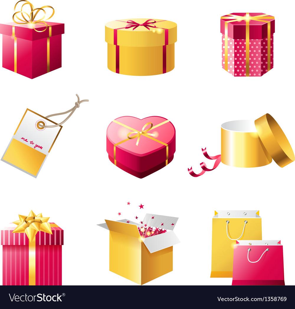 Present boxes vector | Price: 1 Credit (USD $1)