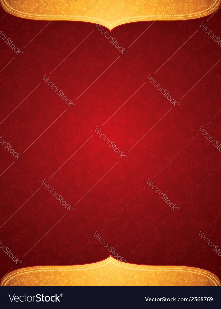 Red background with decorative roses vector   Price: 1 Credit (USD $1)