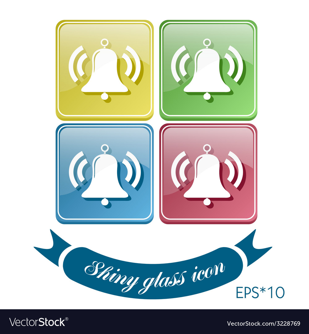Ring bell icon eps vector | Price: 1 Credit (USD $1)