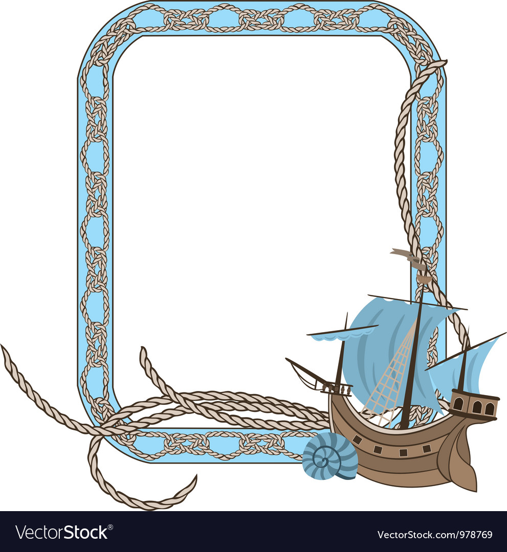 Sea frame vector | Price: 1 Credit (USD $1)