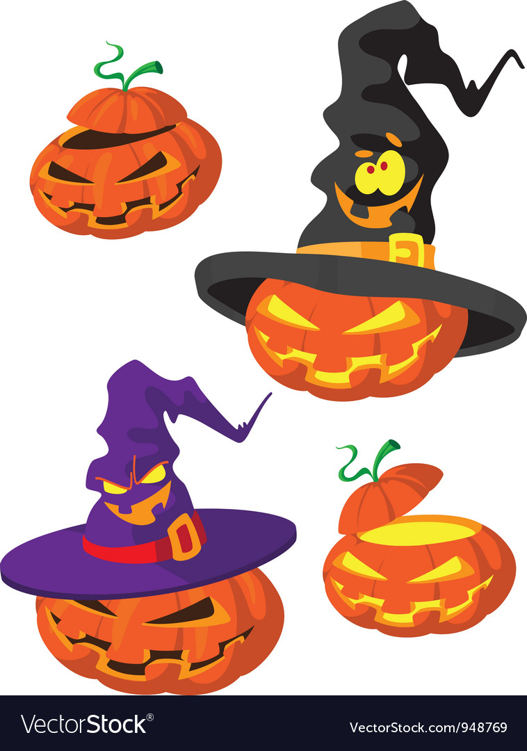 Set of halloween pumpkin vector | Price: 3 Credit (USD $3)