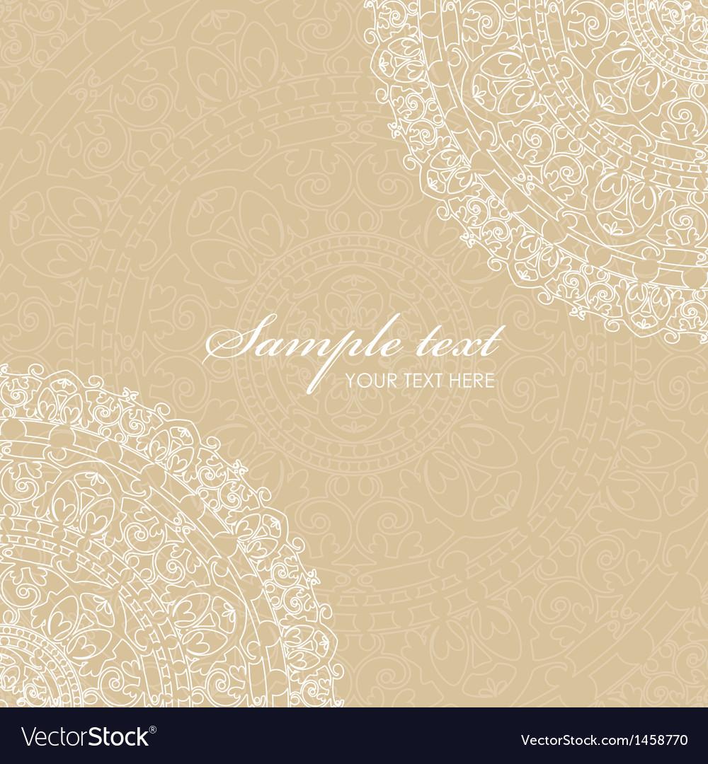 Beige background with napkin vector | Price: 1 Credit (USD $1)