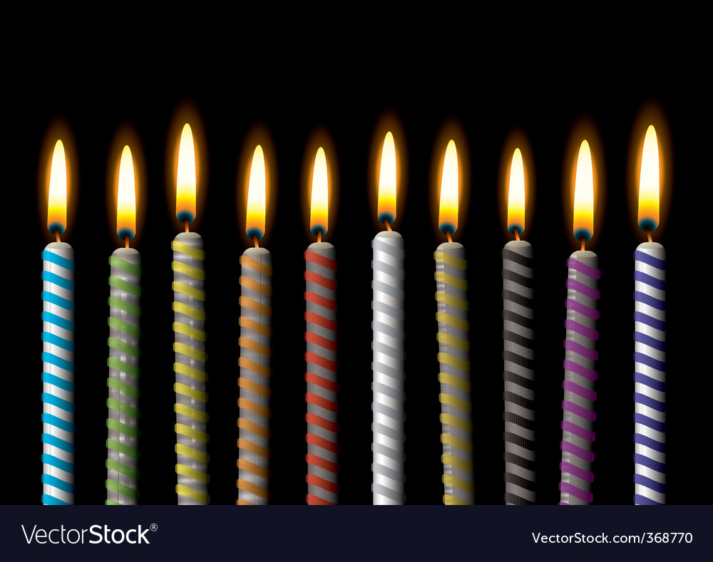 Birthday candle vector | Price: 1 Credit (USD $1)