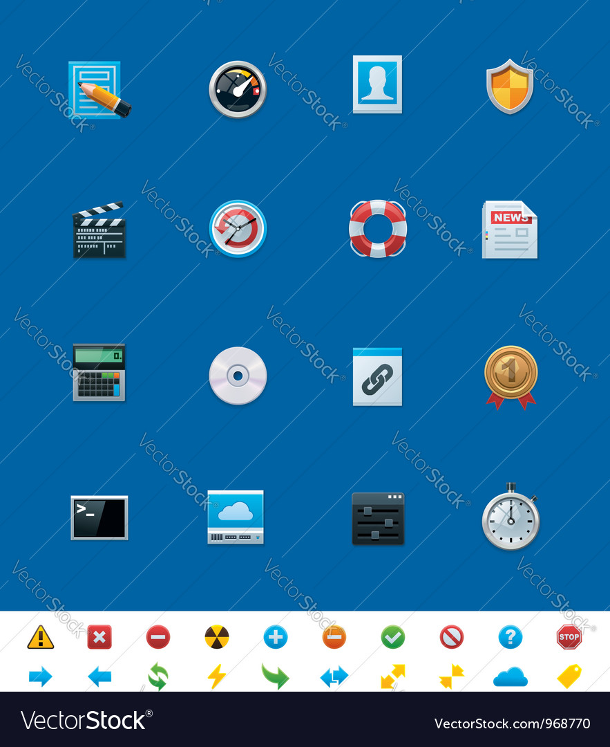 Common website icons for webmasters vector   Price: 3 Credit (USD $3)