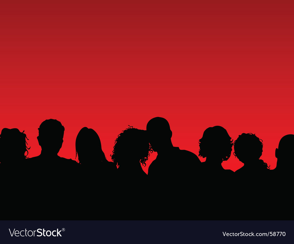 Crowd of people vector   Price: 1 Credit (USD $1)