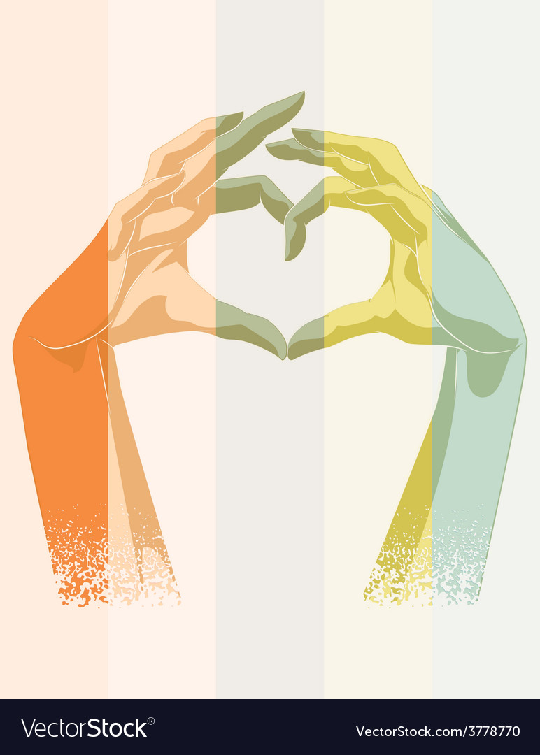 Double exposure of heart symbol vector | Price: 1 Credit (USD $1)