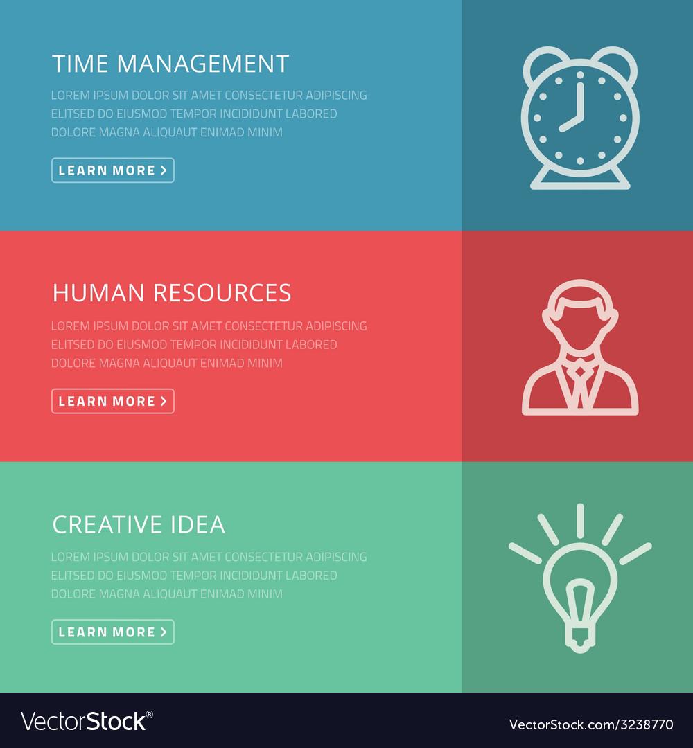 Flat design concept for management hr creative vector | Price: 1 Credit (USD $1)