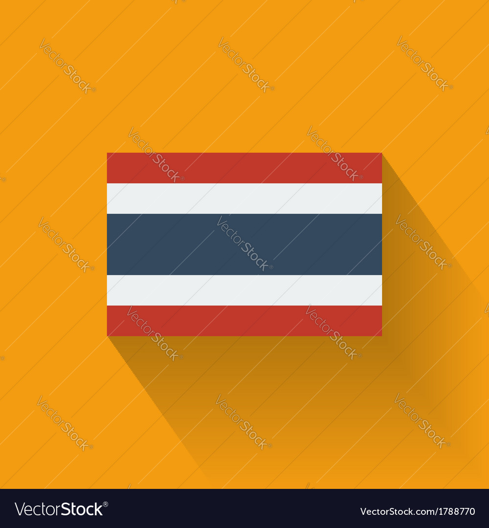 Flat flag of thailand vector | Price: 1 Credit (USD $1)