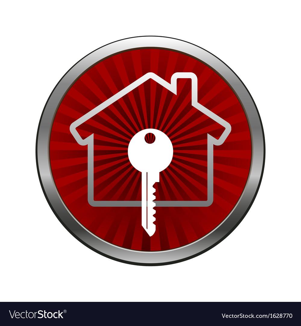 House lock icon vector | Price: 1 Credit (USD $1)