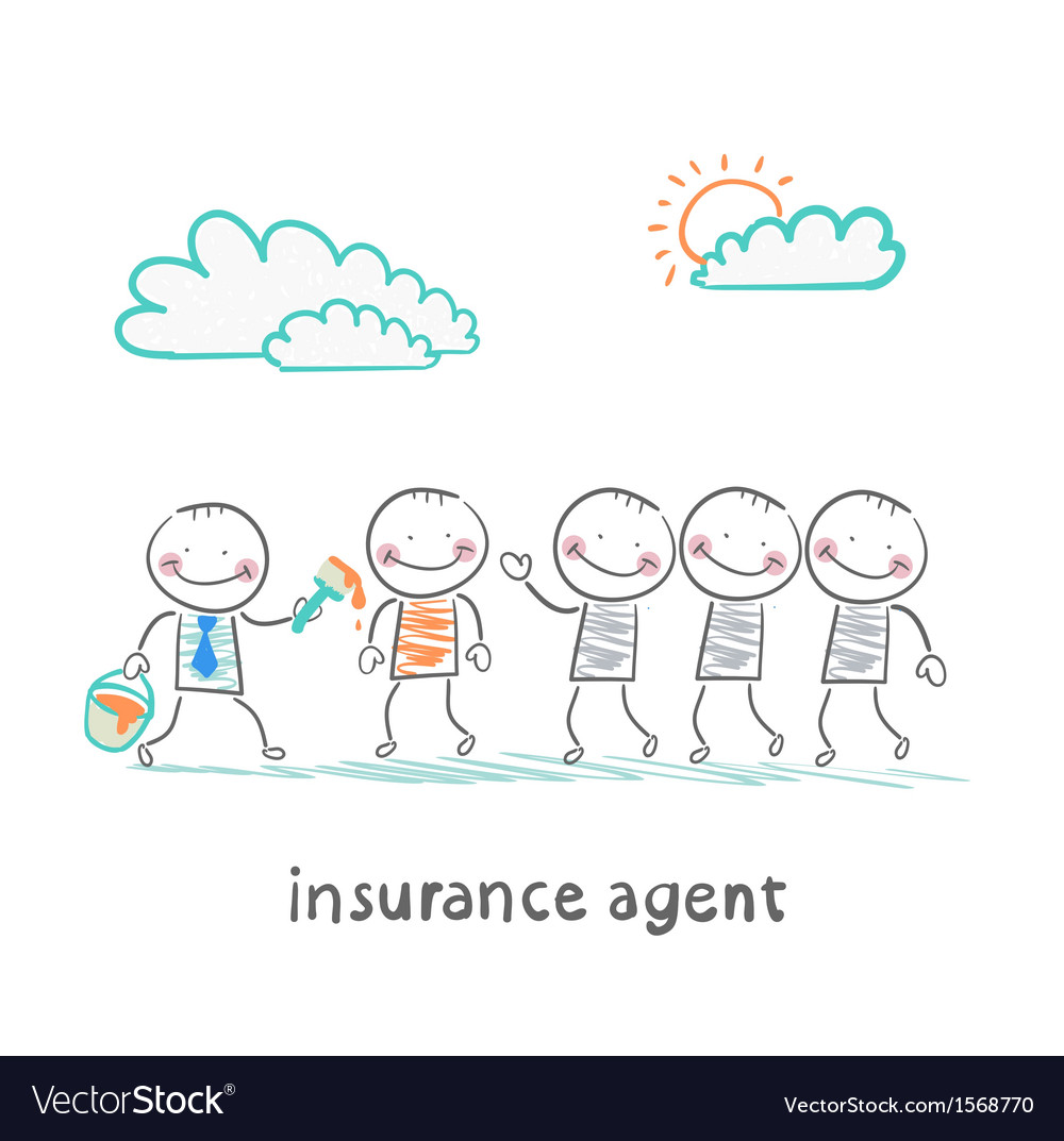 Insurance agent repaint in a different color vector | Price: 1 Credit (USD $1)