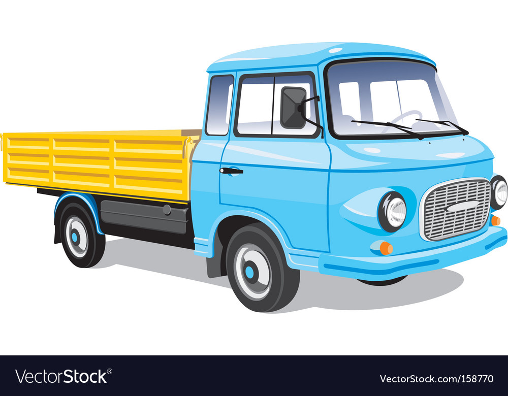 Mini cargo truck vector | Price: 3 Credit (USD $3)