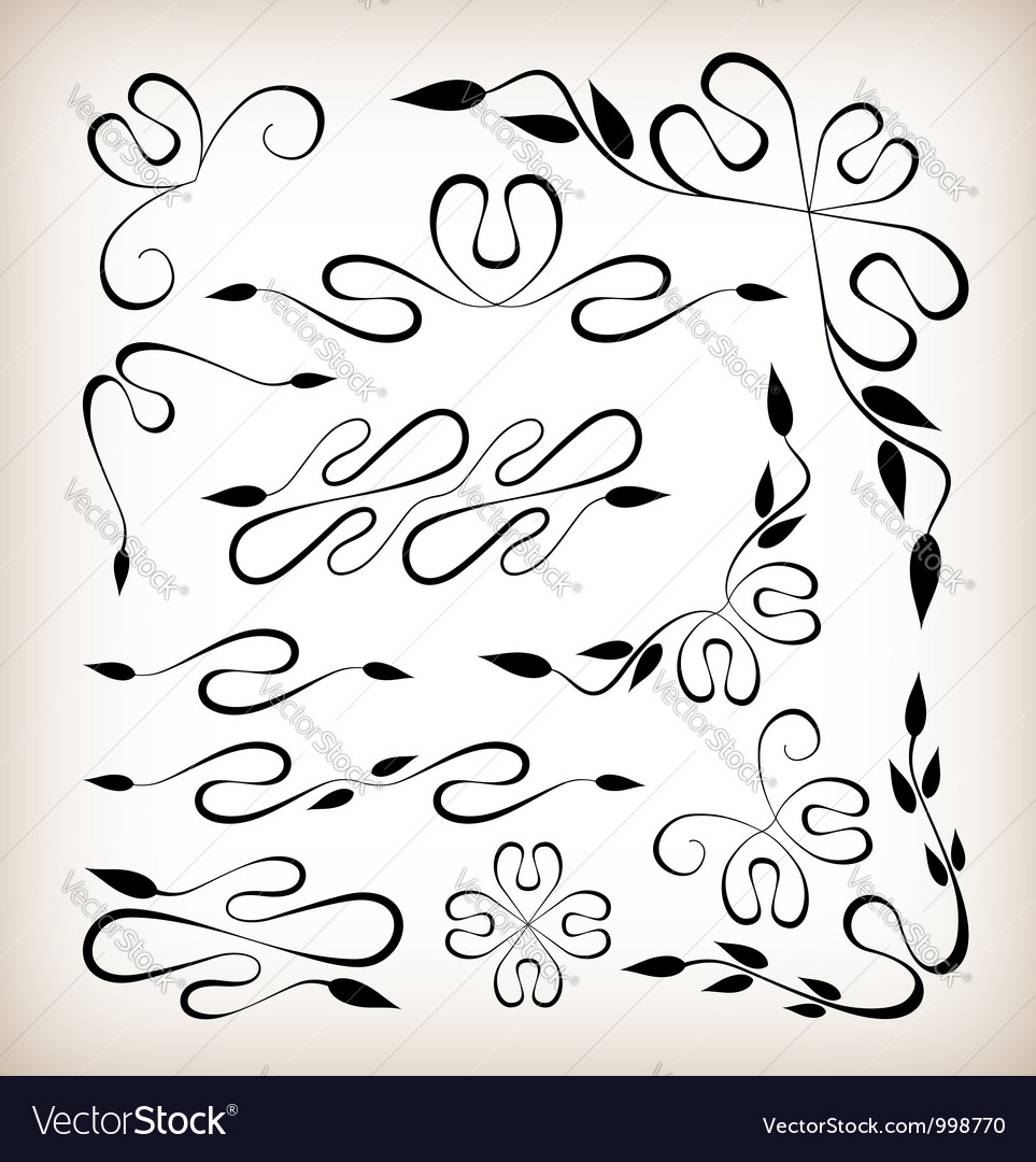 Set of art deco design elements vector | Price: 1 Credit (USD $1)