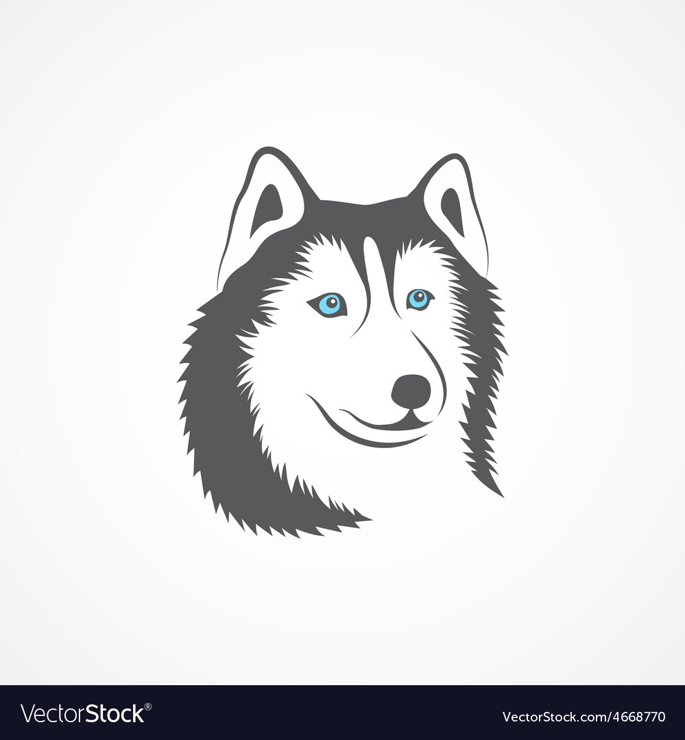 Siberian husky vector | Price: 1 Credit (USD $1)