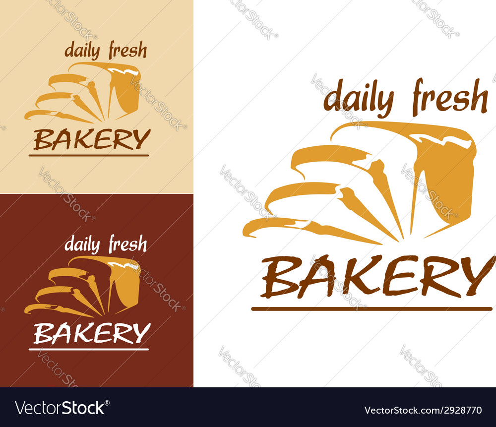 Slices of bread as bakery emblem vector | Price: 1 Credit (USD $1)