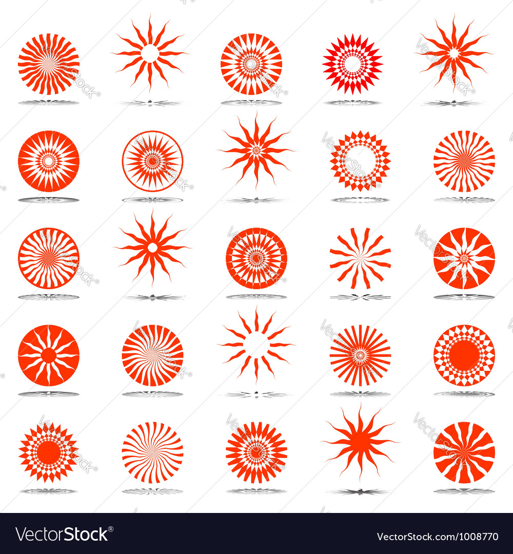 Sun and star icons vector | Price: 1 Credit (USD $1)