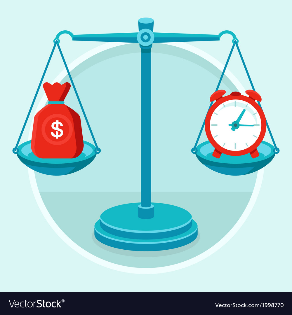 Time money concept vector | Price: 1 Credit (USD $1)